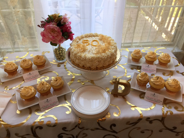 Cake and Cupcake Dessert Bar