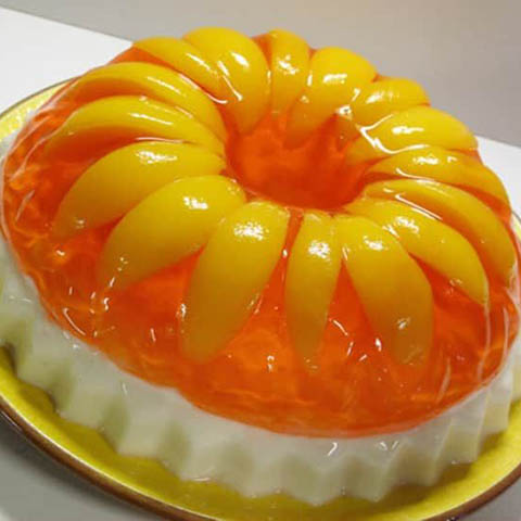 Peaches & Cream Jello Mold